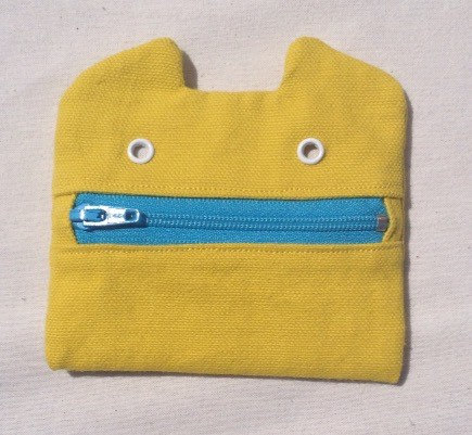 Zip Monster Canvas Coin Purse