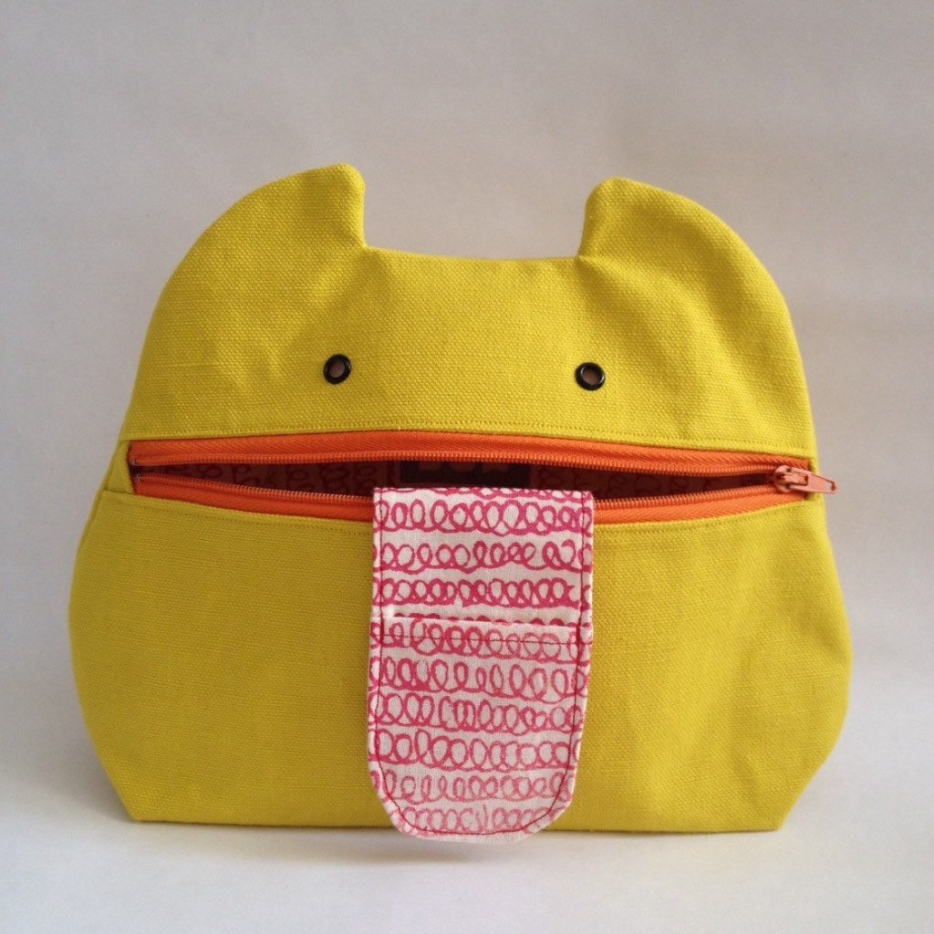 Zip Monster Handmade Cosmetic Bag